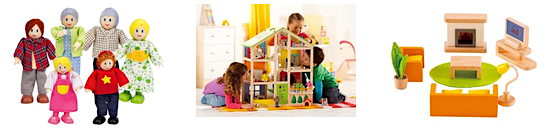 Doll Houses, Doll House Furniture and Figures