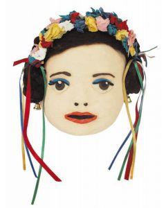 Papier Mache Child Face Masks 10pcs