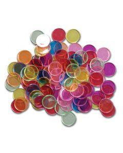 Metal Rimmed Coloured Discs 100pcs