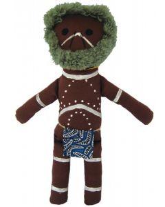 Aboriginal Elder/Uncle Doll 36cmH