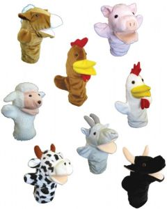 Farm Animal Hand Puppets 8pcs