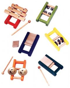 Wooden Musical Instruments 6pcs
