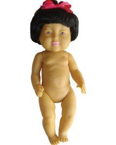 Asian Girl Doll With Hair 42cm