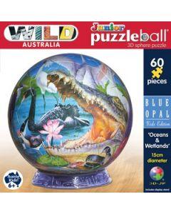 3D Puzzle Ball Oceans and Wetlands 60pcs