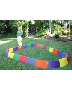 Rainbow Balance Beams Curved & Straight Set 24pcs