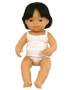 Asian Boy Doll 40cm With Hair