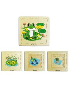 Life Cycle of the Frog 4-Layer Puzzle 21pcs