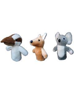 Aussie Animals Finger Puppets 3pcs