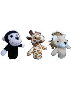 Wild Animals Finger Puppets 3pcs