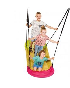 Boat Nest Swing Pink and Yellow