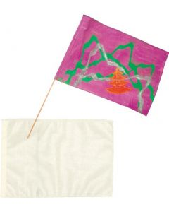 Large Calico Flag Blanks with Wooden Poles 30pcs