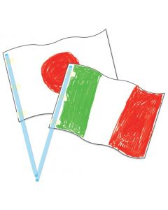 Blank Card Flags with Plastic Poles 30pcs