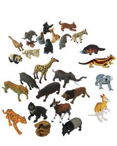 Collection of Aussie, Rainforest, African & Baby Animals 28pcs