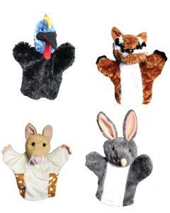 Endangered Aussie Animal Hand Puppets 4pcs