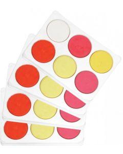 Warm Poster Colours Palette x 4