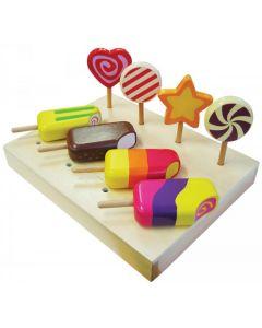 Ice Creams and Lollipops Set 8pcs