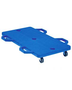 Double Scooter Board Large With Safety Handles BLUE 71cmx35cm