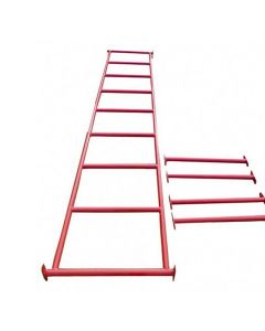 Monkey Bar 3mL x 60cmW with Step Up Bars RED