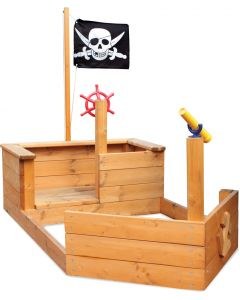Solid Pine Pirate Ship