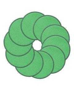 Ten Frames Carpet Discs Green Set of 10