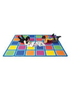 Rainbow Squares Carpet 3m x 4m