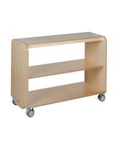 Solid Birch Ply Open Shelving Unit 2 Shelf 105cmW x 45.5cmD x 80cmH