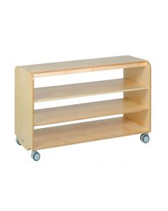 Solid Birch Ply Long Open 3 Shelf Unit 140cmW x 45.5cmD x 80cmH