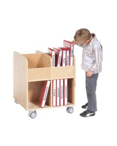 Solid Birch Ply Mobile Book Cube 65cmL x 65cmW x 60cmH