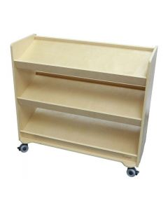 Solid Birch Ply Sloping Mobile Shelving Unit 88cmW x 90cmH x 40cmD