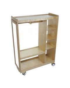 Solid Birch Ply Mobile Dress Up Trolley 80cmL x 110cmH x 40cmD