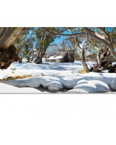 Snowy Winter Playscene Backdrop 3mW x 1.7mH
