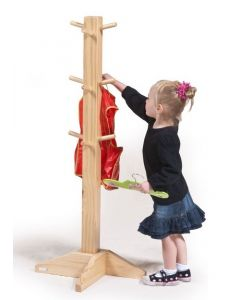 Solid Pine Dress Up and Smock Stand