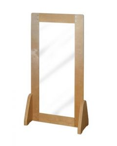 Solid Birch Ply Floor Mirror, Whiteboard and Room Divider 120cmH