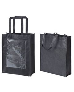 Black Eco Bags with Display Pockets 10pcs