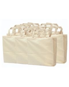 Calico Bags with Handles 12pcs