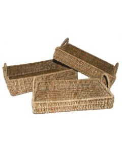 Seagrass Trays With Handles Set of 3