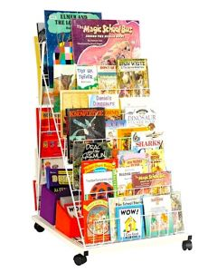 Mobile Double-Sided, Right-Angled Book Stand