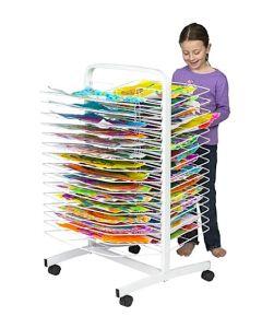 Mobile Art Drying Rack 30 Trays
