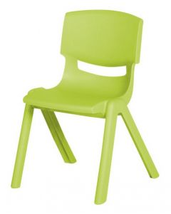 Stacking Resin Chair Leaf Green 35cm