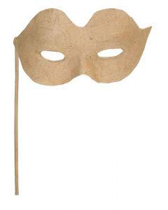 Papier Mache Eye Mask on Stick