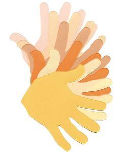 Skin Tone Paper Hands 50pcs