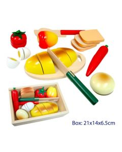 Cutting Foods Playset on Tray 22pcs