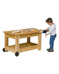 Solid Timber Carpentry Bench With Vice