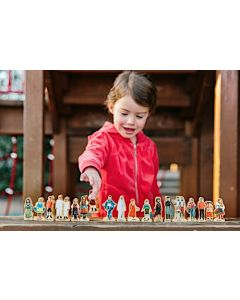 People of the World Wooden Playset 18pcs