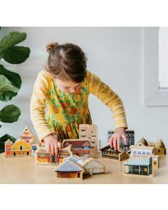 The House I Live In Wooden Playset 17pcs