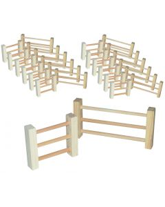 Timber Fences Pack 24pcs