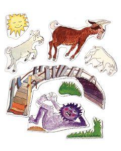 Three Billy Goats Gruff Magnetic Story 8pcs