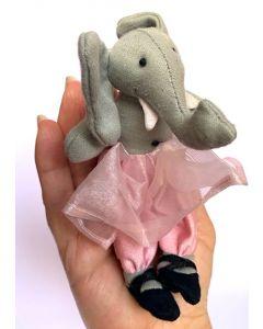Traipsing Tutu Elephant Finger Puppet