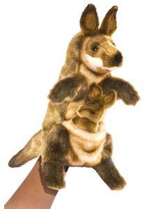 Kangaroo and Joey Full Body Puppet 29cm