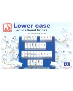 Coko Coloured Lower Case Letter Bricks 50pcs